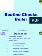 Boiler Walk Down Checks PMI