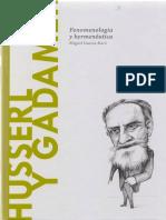 Husserl y Gadamer. Fenomenología y Hermenéutica (1)