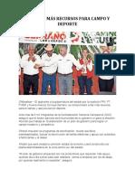 2016-04-10 PROMETE MÁS RECURSOS PARA CAMPO Y DEPORTE