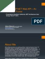 WebApi vs WCF