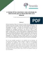 Artículo El Manejo de Las Emociones Como Estrategia de Intervención Para El Desarrollo Feliz en La Infancia