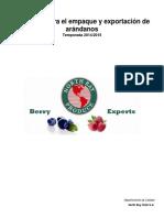 PROTOCOLO PARA LA EXPORTACIÓN DE ARÁNDANOS NBP Temp  14-15 (V 2.0)