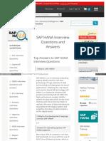 15 SAP HANA Interview Question
