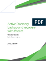 Active Directory Backup Recovery