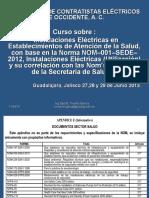 Curso Hospitales Nom 001 Sede 2012