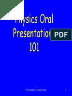 Giving Physics Talks