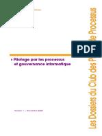 Pilotage de Processus Et Gouvernance Informatique