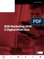 B2B Marketing 2016 5 Digital Must Dos