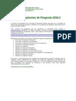Guía Para Aspirantes Posgrados 2016-2