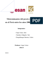 Determinacion del precio del maiz (modelo base)