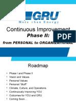 GRU Continuous Improvement Phase II Training Workshop