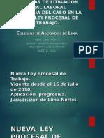 Litigación Oral - Proceso Laboral