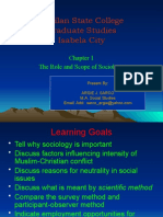 Roles and Scope of Sociology