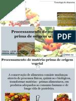 TA Aula 6 - Processamento de Matéria-prima de Origem Vegetal