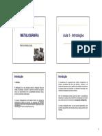 Apostila de Metalografia 1 - Unidade 1