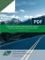 Colorado Department of Transportation 2016 Problem Identification Report
