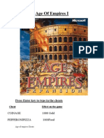 Age of Empires Cheatbook