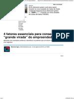 4 Fatores Essenciais Para Conseguir a _grande Virada_ Do Empreendedor - Notícias - Carreira - Administradores