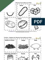 Es Spanish Kids Food Flash Cards Protein