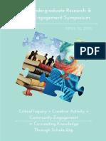 2016 Undergraduate Research & Engagement Symposium Program