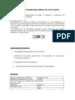 Acetileno y Propiedades Químicas de Los Alquinos
