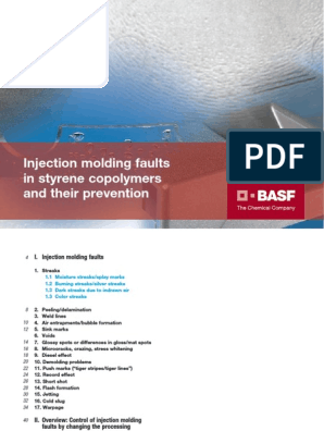BASF Injection molding defects pdf | Casting (Metalworking