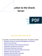 Introduction to the Oracle Server