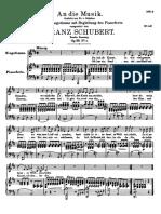 Schubert D547 An die Musik