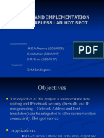 DESIGN AND IMPLEMENTATION OF A WIRELESS LAN HOT SPOT
