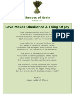 Love Makes Obedience a Thing of Joy -Sheaves of Grain - 25