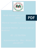 Roles and Functions of the Nurse in Mental Health