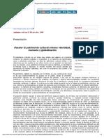 El patrimonio cultural urbano_ identidad, memoria y globalización.pdf
