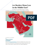 Would New Borders Mean Less Conflict in the Middle East