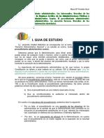 Derecho Administrativo. Guia Tema 3