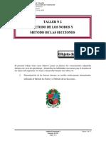 Taller 2 Metodo de Los Nodos y Metodo de Las Secciones Semestre 2016-1