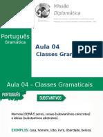 Missão Diplomática - Gramática - Aula 4 - Classes Gramaticais