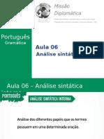 Missão Diplomática - Gramática - Aula 6 - Análise Sintática Interna