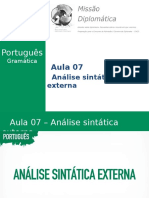 Missão Diplomática - Gramática - Aula 7 - Análise Sintática Externa