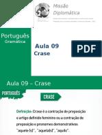 Missão Diplomática - Gramática - Aula 9 - Crase