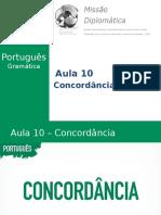 Missão Diplomática - Gramática - Aula 10 - Concordância