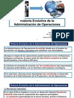 Historia Evolutiva Administracion de Operaciones