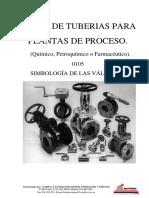 Curso de tuberías para plantas de proceso - 0105 Valvulas Simbologia