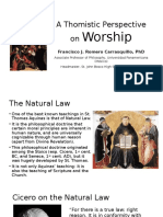 A Thomistic Perspective on Worship
