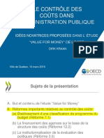 OCDE Reforme Budgetisation Separation Administration 2016