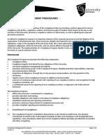 Compliance Management Procedures