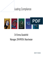 Evaluating 20 Compliance