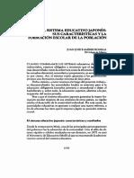 Clase Xi - El Sistema Educativo Japonés Sus Características y La Formación Escolar de La Población