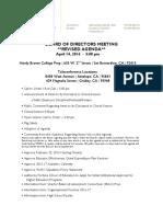 4 14 16 Board Meeting Agenda
