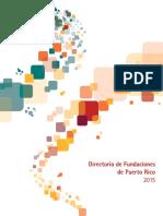 Directorio de Fundaciones de PR 2015