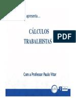 Aula 01 - Metodologia Dos Cálculos Trabalhistas